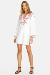 Johnny-Was-Azalea-Embroidered-White-Tunic-Dress-Boho-Chic-CSW5019-NEW