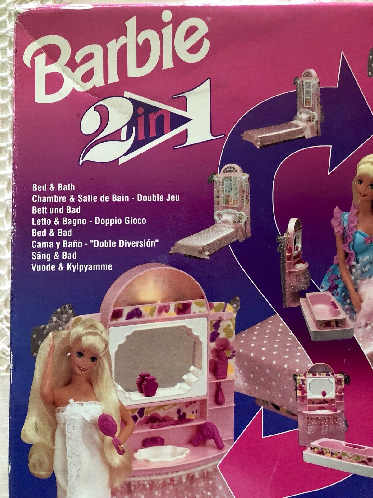 1993 1993 1993 BARBIE MATTEL - 2 in 1  Bed & Bath - New and sealed 3aa4ec