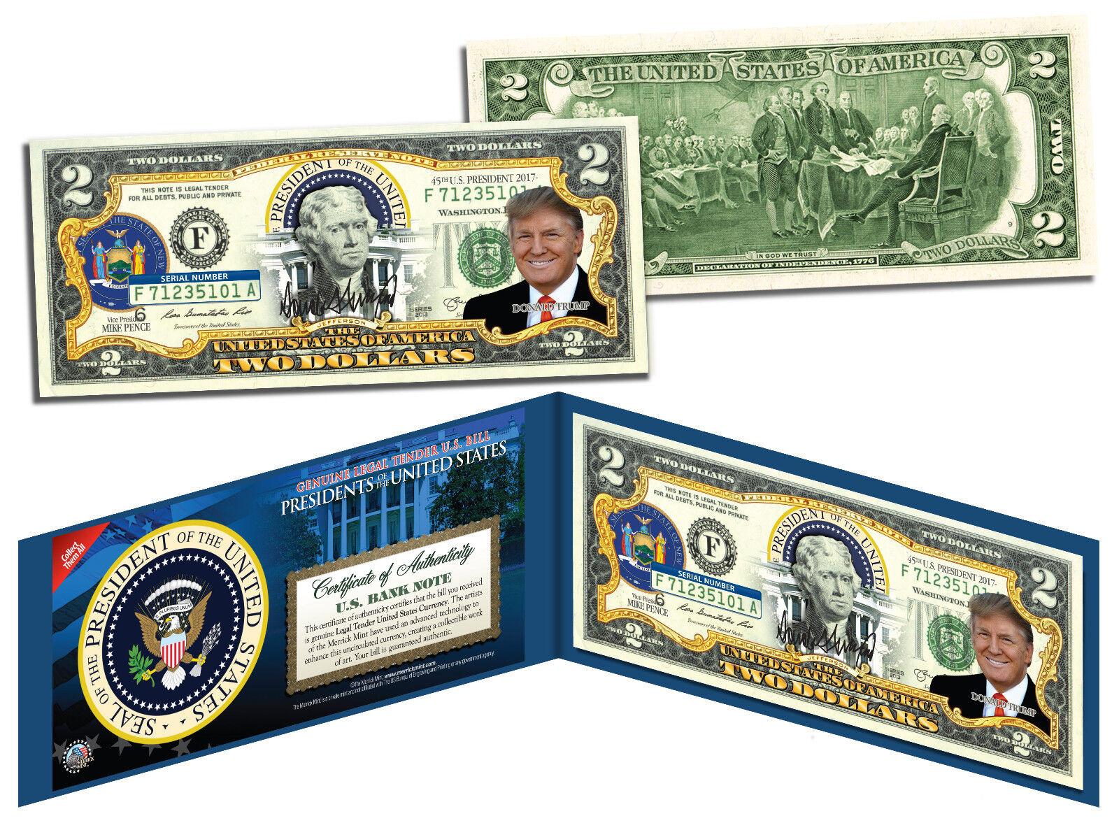 DONALD TRUMP * Presidential Series #45 * Genuine Legal Tender U.S. $2 Bill 1