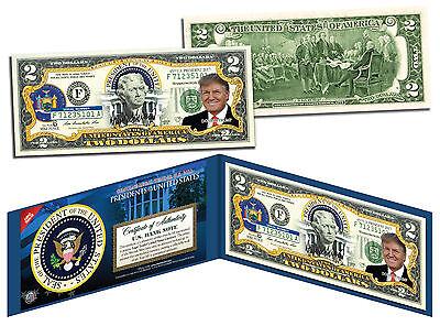 Presidential Series #45 Genuine Legal Tender U.S $2 Bill DONALD TRUMP