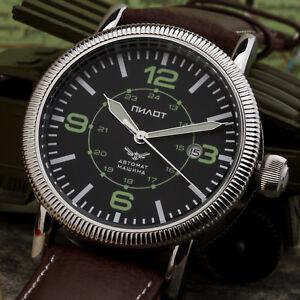405c1836117 Pilot Watch Aviator Automatic B-Watch 8215 Military   Board Russia ...