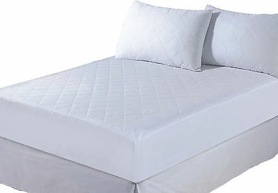 QUILTED MATTRESS PROTECTOR SINGLE DOUBLE KING SUPER KING FITTED BED COVER