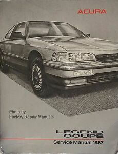 1987 acura legend coupe factory service manual original shop repair rh ebay com acura legend repair manual pdf acura legend repair manual pdf