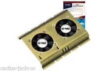 "NEW RETAIL BOXED DUAL FAN + ALUMINIUM 3.5"" BAY COOLER FOR HDD HARD DISK DRIVE"