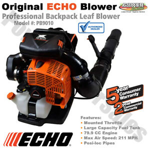 Echo 211 MPH Backpack Leaf Blower, Mounted Throttle Gas Engine, PB9010, PB8010T