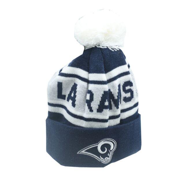 3db22ccbaaa Los Angeles Rams NFL Kids Boys One Size Fits Most Cuffed Pom Knit Beanie  New Tag