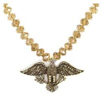 Heidi Daus Brown Bead The Eagle Has Landed Necklace