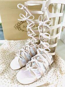 f0beebbc9ea NEW Joyfolie Gladiator Sandals Shoes In Blush Metallic Girls Size 12 ...