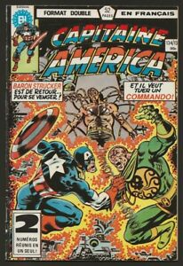 Captain-Capitaine-America-134-135-Double-Format-in-French-Heritage-Marvel-1982