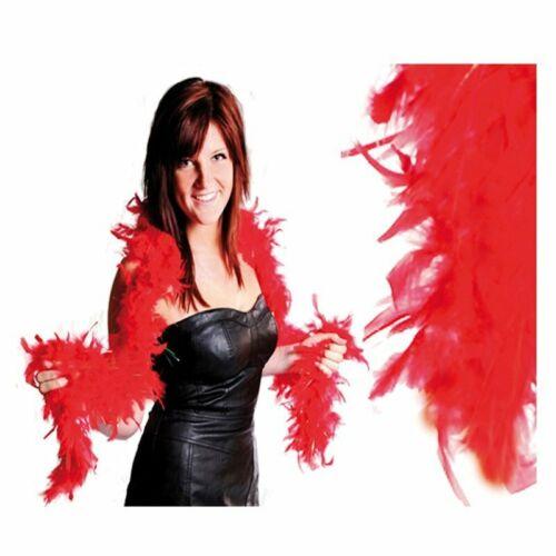 Federboa 180cm Rot Damen Kinder Karneval Fasching Stola Kostüm Schal Party