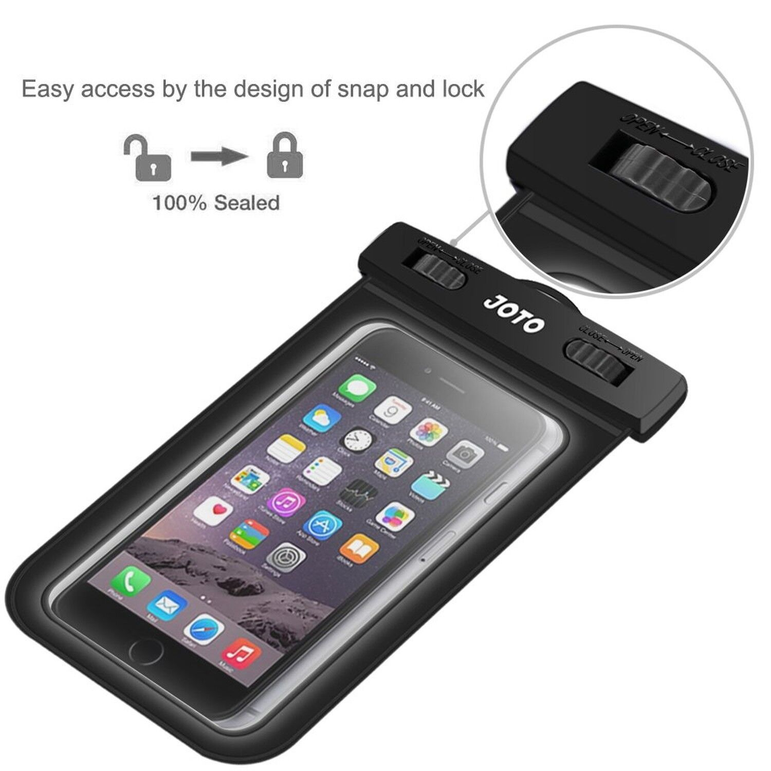 Cell Phone Dry Bag for Apple iPhone 6S 6,6S Plus JOTO Universal Waterproof Case Samsung Galaxy S6 Green Note 5 4 5S 5 HTC LG Sony Nokia Motorola up to 6.0 diagonal