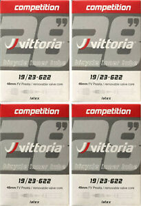 RVC Vittoria latex tubes 700 x 25//28 48mm stem 2 tubes per order