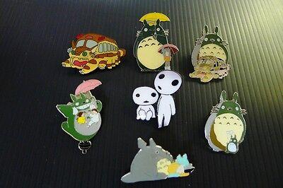 7 Pins ~ Totoro My Neighbor & Princess Mononoke Kodama anime Pin