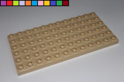 Platte 6 x 12-72 Noppen Lego Duplo braun sand beige Bauplatte
