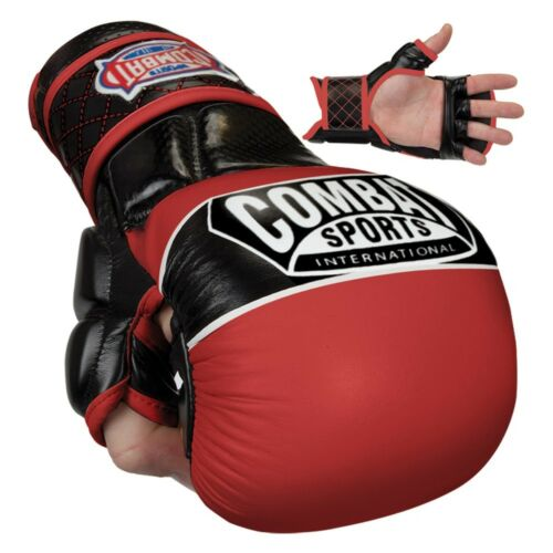 Combat Sports TG6 Max Strike Hybrid MMA Grappling Training Sparring Gloves