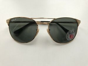 414a33fc03 RB3429M 001-58 3P Polarized Ray Ban Gold Signet Sunglasses