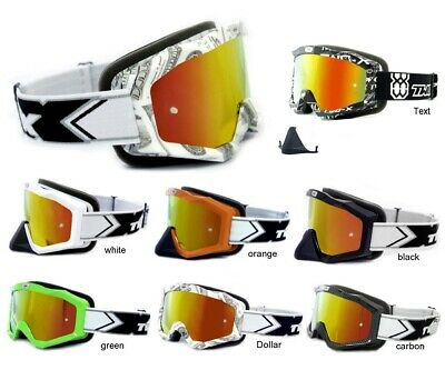 Ragionevole Two-x Evo V2 Crossbrille Iridium A Specchio Mx Enduro Motocross Occhiali Cross-mostra Il Titolo Originale