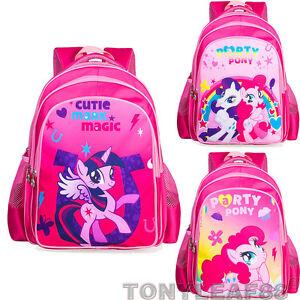 Children Kids Girls My Little Pony School Bags Bookbag Shoulder ... dbd3cef25b