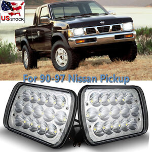 Details About 7x6 Led Hi Lo Sealed Beam Headlight Crystal Clear For 90 97 Nissan Pickup 240sx