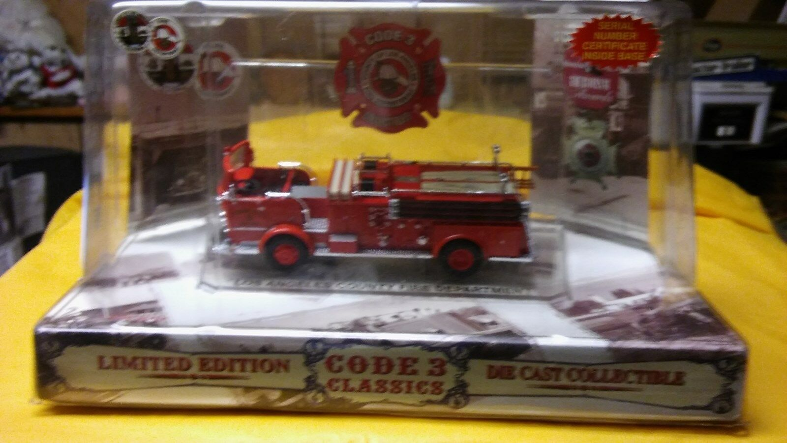 Code 3 - LOS ANGELES County Fire Dept Crown Pumper (blank) - Mint in Box