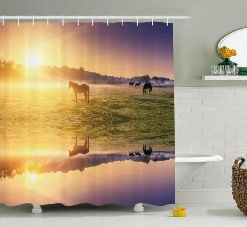 Loon Peak Baford Horse Valley Single Shower Curtain