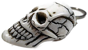 Porte Clés Crâne Blanc 10 cm Pendentif TETE DE MORT GOTHIQUE DECO gdet b71