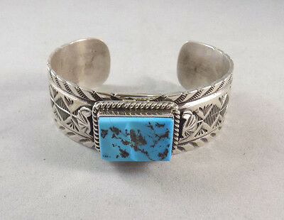 High Quality Vintage Sleeping Beauty Turquoise Bracelet in Sterling Silver