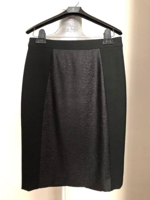 Halogen Pencil Skirt Block Back Slit Classic Black Size 0