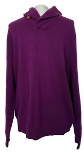 NEW-RALPH-LAUREN-PURPLE-LABEL-MEN-039-S-PURPLE-CASHMERE-SWEATER-L-1480