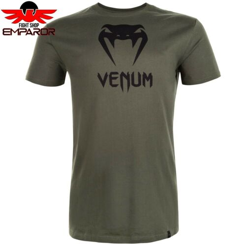 Venum Classic T-Shirt Khaki Fitness Streetwear Kampfsport Shirt Herren kurzarm