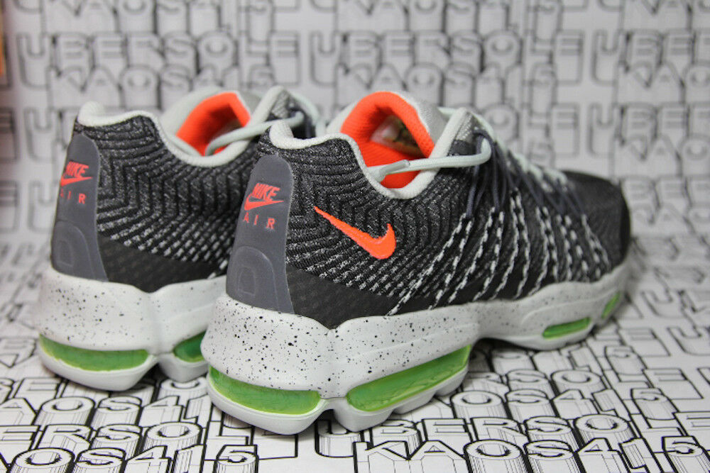 Nike Air Max 95 Ultra Grey Crimson Lime Neon 749771 006 og MEN 8 New shoes for men and women, limited time discount