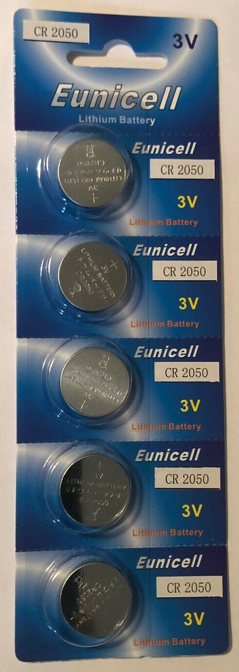 5x Long Lasting Eunicell CR2050 ECR2050 3v Lithium Button Cell Batteries