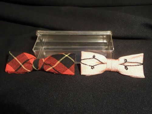 Vintage 1950/'s-1960/'s Set of Five Rust Resistant Clip-On Bow Ties Evergrip Best Clip