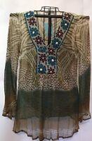 Fashion Summer Top Blouse M Women Boho Floral Shirt Casual Boho Tank Tops