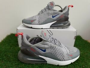 Nike-Air-Max-270-Grey-Blue-Men-039-s-Trainers-Size-UK-8-5