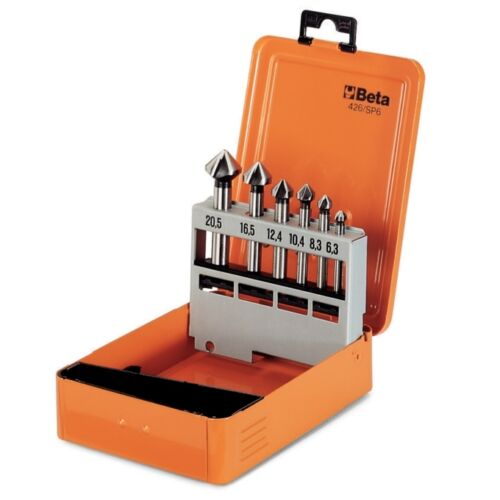 Beta Tools 426//Sp6 Set Of 6 Countersinking Cutters With Three Cutters Hss In Box
