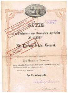 Aktien-Bierbrauerei-zum-Plauenschen-Lagerkeller-Dresden-1873-100-Thaler-deco