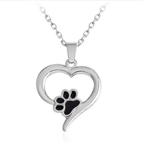 Hohle Pet Pfotenabdruck Halskette Tier Hund Katze Anhänger Halskette Schmuck ZJH