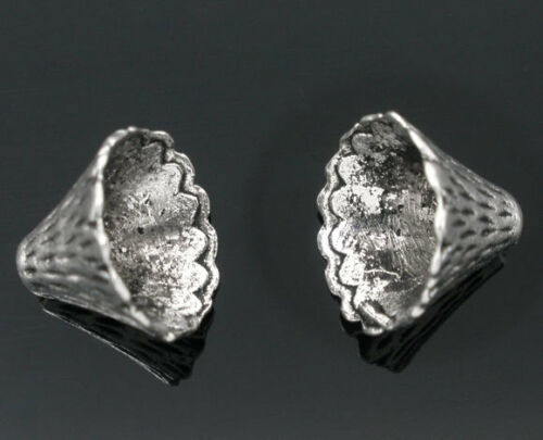 50 Newest Silver Tone Cone Caps Findings Fit 12mm-22mm Beads