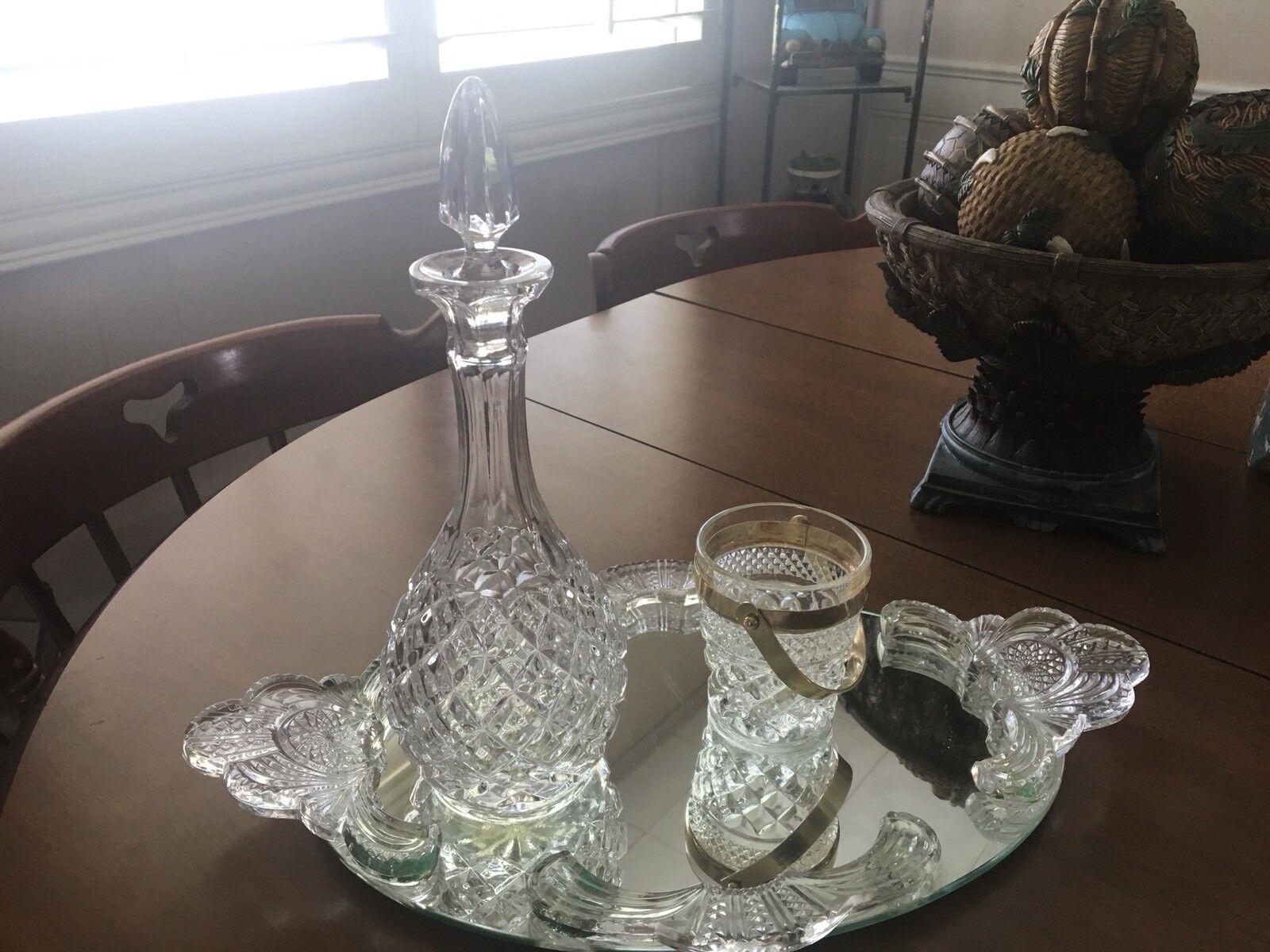 Cristal wine decanter avec miroir et personnels Seau à glace
