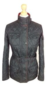 904f0b8b56d1c Details about #610 Barbour Ladies New Flyweight International Black Quilt  Biker Jacket UK 8