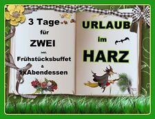 3 TAGE KURZURLAUB zu ZWEIT - 3* HOTEL SÜDHARZ mit FRÜHSTÜCKSBUFFET+1x ABENDESSEN