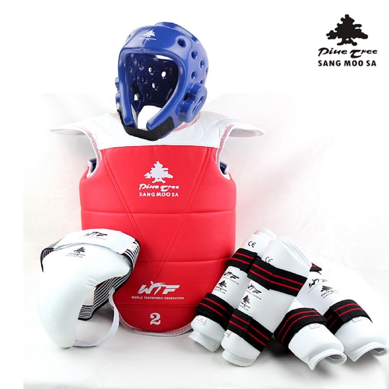 Taekwondo Taekwondo Taekwondo Set complet gilet d'hommes Protection de la tête en profondeur bras e59585