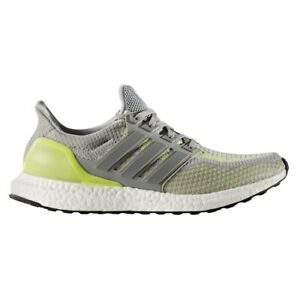 100% authentic e221d 1529f Details about Adidas Ultra Boost ATR LTD Mens BB4145 Grey Yellow Glow  Primeknit Shoes Size 15