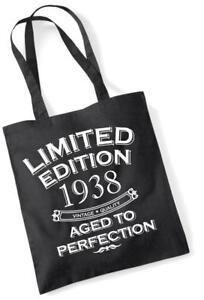 79th Geburtstagsgeschenk Tasche Einkaufstasche Limitierte Edition 1938