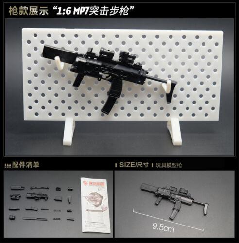 8Pcs 1//6 Toys Gun Model Puzzles Building Bricks Gun Soldier Weapon Gatling AK74
