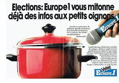 Les éléctions 2pag Dynamic Publicite Advertising 126 1985 Radio Europe 1