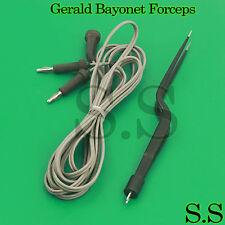 Bipolar Gerald Bayonet Forceps 195cm Non Stick Reusable Electrosurgical El 006