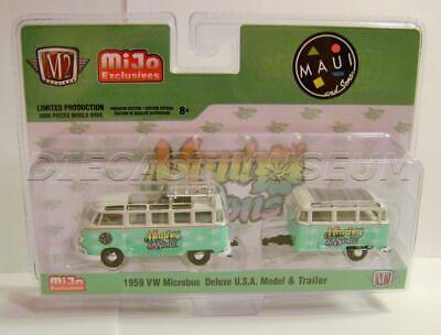 1959 VW Samba Surf Bus caravane Maui ** m2 machines fiston Hobby EXCL 1:64 Nouveau