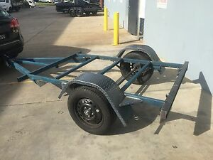 Flat-FRAME-Trailer-single-axle-7X4-FT-H-DUTY-NO-PAINT-AS-IS-DIY-SPECIAL